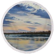 Scenic Overlook - Delaware River Round Beach Towel