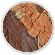 Scenic Sandstone In Valley Of Fire Round Beach Towel