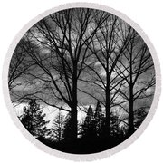 Scenic State Capital Round Beach Towel