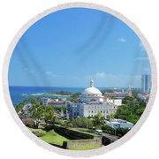 Scenic View Round Beach Towel