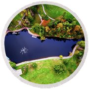 Schenk Lake Round Beach Towel