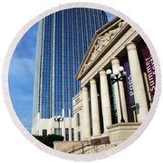 Schermerhorn Symphony Center Nashville Round Beach Towel by Susanne Van Hulst