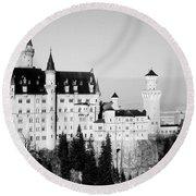 Schloss Neuschwanstein  Round Beach Towel