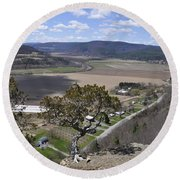 Schoharie Valley Round Beach Towel