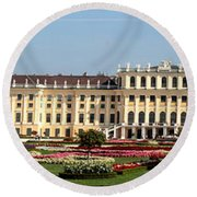 Schonbrunn Palace And Gardens Round Beach Towel