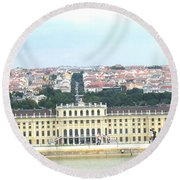Schonbruun Castle Round Beach Towel