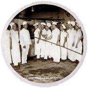 School For Bakers Presidio Of Monterey October 1915 Round Beach Towel