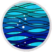 schOOlfish II Round Beach Towel
