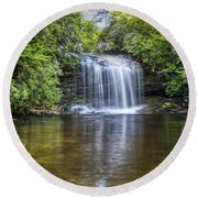 Schoolhouse Falls Round Beach Towel