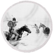 Schreyvogel: Stand Off Round Beach Towel