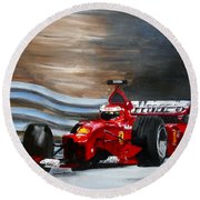 Schumacher Monaco Round Beach Towel