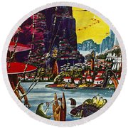 Science Fiction Cover, 1941 Round Beach Towel