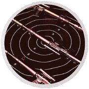 Scopes Of Military Precision  Round Beach Towel