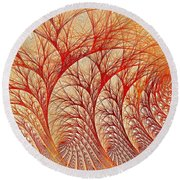 Scorched Round Beach Towel