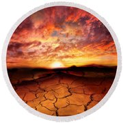 Scorched Earth Round Beach Towel
