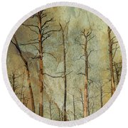 Scorched Forest Round Beach Towel