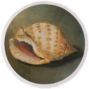 Scotch Bonnet Seashell Round Beach Towel