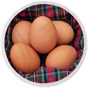 Scotch Eggs Round Beach Towel