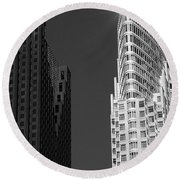 Scotia Plaza And One King West Round Beach Towel