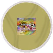 Scotland 13 Round Beach Towel
