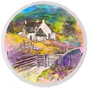 Scotland 16 Round Beach Towel