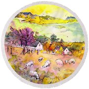 Scotland 20 Round Beach Towel