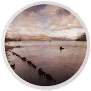 Scotland Landscape Round Beach Towel