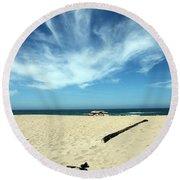 Scott Creek Beach California Usa Round Beach Towel