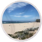 Scott Creek Beach Hwy 1 Round Beach Towel