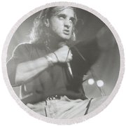 Scott Stapp Of Creed Round Beach Towel
