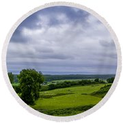 Scottish Countryside 1 Round Beach Towel