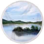 Scottish Highlands Round Beach Towel