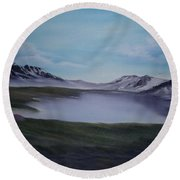Scottish Highlands. Round Beach Towel