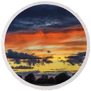 Scottish Sunset Round Beach Towel