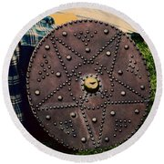 Scottish Targe Round Beach Towel