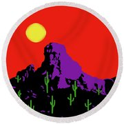Scottsdale Mountain Round Beach Towel