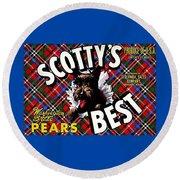 Scotty's Best Washington State Pears Round Beach Towel