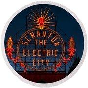 Scranton - The Electric City Round Beach Towel