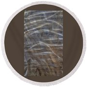 Scratched Metal Round Beach Towel