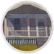 Screened Porch - Art By Bill Tomsa Round Beach Towel