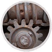 Screw And Gear  Round Beach Towel