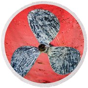 Screw Propeller Round Beach Towel