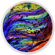 Scribble Round Beach Towel