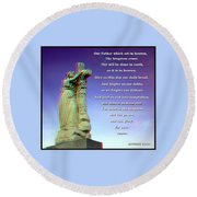 Scripture - Use Red-cyan 3d Glasses Round Beach Towel