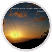 Scriture And Picture Ephesians 1 5 Round Beach Towel