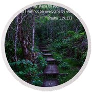 Scriture And Picture Psalm 119 133 Round Beach Towel
