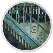Scrolled Staircase By H H Photography Of Florida Round Beach Towel