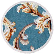 Scrolled Whimsy Round Beach Towel