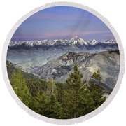 Scull Canyon Round Beach Towel