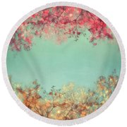Gold And Pink Round Beach Towel